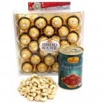 Kaju Jamun - Cashewnuts, Gulab Jamun 500 gms Tin, Ferrero Rocher 24 Pcs