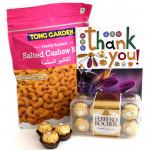 Mouthful Combo - Tong Garden Cashewnuts 400 gms, Ferrero Rocher 16 pcs