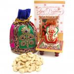 Cashew N Ganesh - Cashewnuts in Potli (D), Marble Ganesha on Chawki