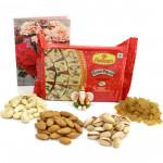 Papdi Combo - Assorted Dryfruits, Soan Papdi 250 gms, Ganesh Idol