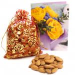 Almondy Potli - Almond in Potli