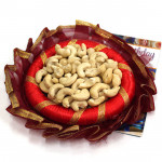 Decorative Cashew Treat - Cashew in Decorative Thali