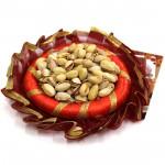 Pista Thali - Pista in Decorative Thali