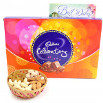 Assorted Celebration Basket - Assorted Dryfruits in Basket, Cadbury Celebrations