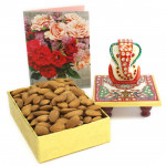 Awesome Bliss - Almonds in Box, Marble Ganesha on Chawki
