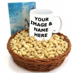 Tasteful Extacy - Cashewnuts in Basket, Personalized Mug