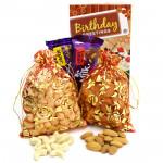 Willful Joy - Almonds in Potli, Cashewnuts in Potli, Dairy Milk Fruit N Nut, Dairy Milk Crackle