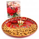 Glad N Gracious - Almonds, Meenakari Thali 6 inch, Ganesh Idol