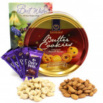 Complete Gift - Cashewnuts and Almonds, Danish Butter Cookies, 5 Dairy Milk