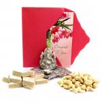 God Bless - Cashewnuts, Kaju Katli 250 gms, Oxydized Ganesh Diya