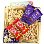 Astounding Gift - Cashewnuts and Pistachio, 2 Kitkat, 2 Dairy Milk