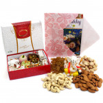Incredible Treat - Assorted Dryfruits, Kaju Mix 250 gms, Decorative Ganesh Idol