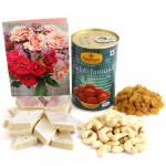 Spectecular Hamper - Cashewnuts and Raisins, Kaju Katli 250 gms, Gulab Jamun Tin 500 gms