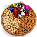 Remarkable Idea - Almond Pistachio, Handmade Chocolates, Basket