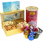 Sublime Joy - Assorted Dryfruits, Rasgulla 500 gms Tin, Handmade Chocolates