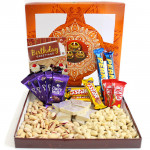 Impressive Treat - Cashewnuts and Pistachio, Kaju Katli 250 gms, 5 Dairy Milk, 3 Five Star, 2 Perk, 2 Kit Kat