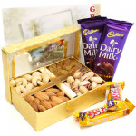 Superlative Present - Assorted Dryfruits, 2 Dairy Milk (L), 2 Five Star