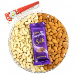 Lovely Combo - Cashewnuts and Almonds, 1 Dairy Milk Silk