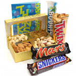 Quality Gift - Assorted Dryfruits, Snickers, Mars, Twix, Bounty