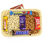 Trenchant Gift - Cashewnuts and Almonds, Snickers, Perk, Five Star, Kitkat, Dairy Milk