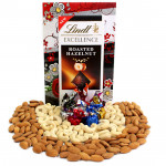 Healthful Treat - Cashewnuts and Almonds, Handmade Chocolates, Lindt Excellence Chocolate