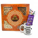 Refreshing Gift - Assorted Dryfruits, Dairy Milk Silk, Personalised Mug