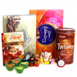 Diwali Fervor - Cadbury Celebrations, Cadbury Rich Dry Fruits, Delfi Twister Chocolate Wafer Roll, Hand made Chocolates, Ganesha Idol with 4 Diyas and Laxmi-Ganesha Coin