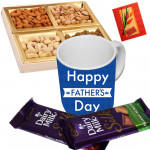Father's Day Gifts - Father's Day Mug, 2 Dairy Milk Silk 60 gms, Assorted Dryfruits 200 gms in Box & Card