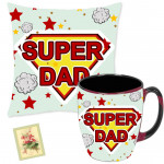 Mug N Pillow - Father's Day Mug, Father's Day Pillow & Card