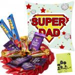 Pillow Assortment - 10 Assorted Cadbury Bars, Father's Day Pillow & Card