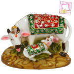 Decorative Cow & Calf Figurine