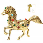 Metal Stone Studded Horse