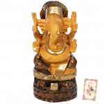 Wooden Ganesha on Platform