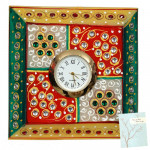 Square Marble Frame with Clock