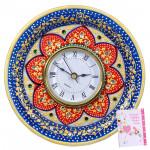 Round Floral Pattern Clock