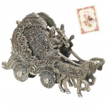 Tea Coaster with Lord Krishna Chariot Stand