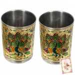 Golden Glass with Meenakari Work