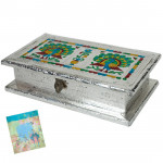 Silver Meenakari Articulous Box