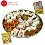 Holi Sweet Kaju Mix, Herbal Gulal and Greeting Card