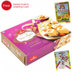 Holi Sweet Haldiram Soan Papdi, Herbal Gulal and Greeting Card