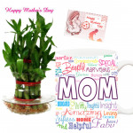Bamboo N Mug - 3 Layer Lucky Bamboo Plant, Mother's Day Mug and Card