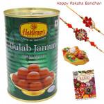 Loved - Gulabjamun 500 gms with 2 Rakhi and Roli-Chawal