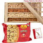 Sweet n Nut - Assorted Dryfruit 800 gms, Soanpapdi 250 gms (Rakhi & Tika NOT Included)