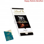 Lindt Excellence 70% Cocoa Chocolate (Rakhi & Tika NOT Included)