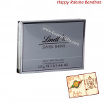 Lindt Swiss Thins Milk Chocolate (Rakhi & Tika NOT Included)
