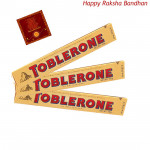 Toblerone Chocolates - 3 Toblerone 50 gms each (Rakhi & Tika NOT Included)