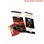 Lindt Chocolates - Lindt Swiss Classic + Lindt 70% Cocoa (Rakhi & Tika NOT Included)