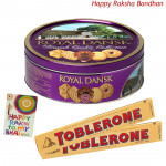 Choco Hamper - Danish Butter Cookies + 2 Toblerone (Rakhi & Tika NOT Included)