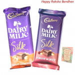 Silk Combo - 2 Cadbury Dairy Milk Silk (Rakhi & Tika NOT Included)