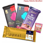 Choco Treat - 2 Bournville, 1 Temptations, 1 Cadbury Dairy Fruit n Nut (Rakhi & Tika NOT Included)